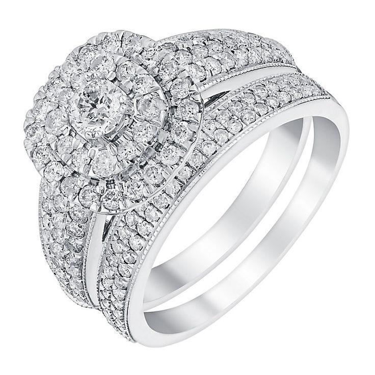 White Gold 14k Diamond Engagement Ring Raghunandan Jewellers